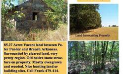 GREAT HUNTING OR BLDG. SITE - LAND IS OVERGROWN AND WOODED - IN FRANKLIN CO. ARKANSAS- SURROUNDED BY NICE RANCHES - CALL FRANK LAY 479-414-4402WWW.HULACOUNTRY.COMListing originally posted at http