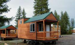 Custom built from 6 to 8 weeks Certified and inspected like an RV With the quality and longevity Of a Log HomePine Interior/cedar exterior From 144 sq feet to 400 sq feet On skids or a custom steel trailer From $12,000 to $ 38,000 Many models to choose