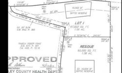 Wooded lot with view. Doublewides permitted. Other lots available from 1-21 acres. Tax records are incorrect and cannot make changes until corrected. Actual acerage is 1.64.