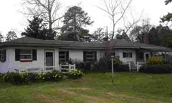 "Southern rancher located on ""Put-In-Creek"" only 1/2 mile from Mathews village for easy convenience. Small pier that could be extended. Town Point boat landing/ramp minutes away. Two/three bedroom or office, 2 baths, large living room with fireplace, sun"
