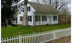 Absolutely charming cape situated on 2.18 beautiful acres with a babbling brook which overlooks additional protected land. All the charm of yesteryears w/the updates of today. Home feature wide board flrs, eatin kit large family room with built in and fp.