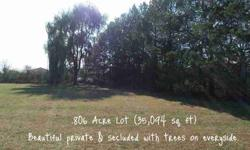 There's no other lot like it! Fantastic beautiful .8 acre lot with many mature trees. Listing originally posted at http
