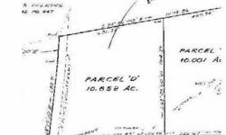 Plenty of room to spread out on this 10.85 acre lot! Bring your builder and plan the home of your dreams! Bank owned and priced to sell. Don't miss out on this great opportunity!Listing originally posted at http